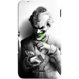 ColourCrust Sony Xperia E4 Mobile Phone Back Cover With Joker - Durable Matte Finish Hard Plastic Slim Case
