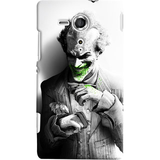 ColourCrust Sony Xperia SP Mobile Phone Back Cover With Joker - Durable Matte Finish Hard Plastic Slim Case