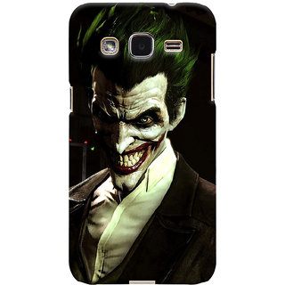 ColourCrust Samsung Galaxy J2 Mobile Phone Back Cover With Wicked color joker - Durable Matte Finish Hard Plastic Slim Case