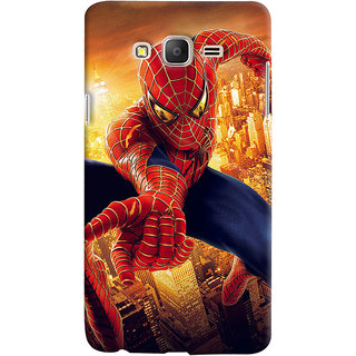 ColourCrust Samsung Galaxy ON7 Mobile Phone Back Cover With Spiderman - Durable Matte Finish Hard Plastic Slim Case