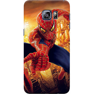 ColourCrust Samsung Galaxy S6 Edge Mobile Phone Back Cover With Spiderman - Durable Matte Finish Hard Plastic Slim Case