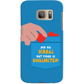 ColourCrust Samsung Galaxy S7 Mobile Phone Back Cover With Jeb he Khaali - Durable Matte Finish Hard Plastic Slim Case