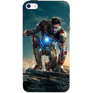 ColourCrust  4S Mobile Phone Back Cover With Iron Man Without Mask - Durable Matte Finish Hard Plastic Slim Case