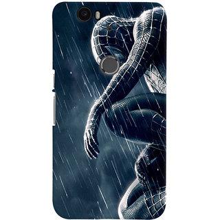 ColourCrust Huawei Google Nexus 6P Mobile Phone Back Cover With Black Spiderman - Durable Matte Finish Hard Plastic Slim Case