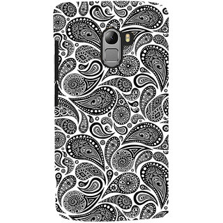 ColourCrust Lenovo K4 Note Mobile Phone Back Cover With Black & white pattern - Durable Matte Finish Hard Plastic Slim Case
