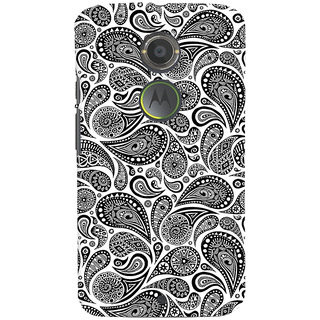 ColourCrust Motorola Moto X2 Mobile Phone Back Cover With Black & white pattern - Durable Matte Finish Hard Plastic Slim Case