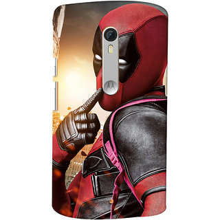 ColourCrust Motorola Moto X Style Mobile Phone Back Cover With Shy Deadpool - Durable Matte Finish Hard Plastic Slim Case