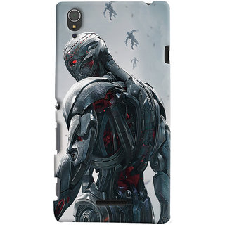 ColourCrust Sony Xperia T3 Mobile Phone Back Cover With Ultron Back - Durable Matte Finish Hard Plastic Slim Case