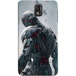 ColourCrust Samsung Galaxy Note 3 Mobile Phone Back Cover With Ultron Back - Durable Matte Finish Hard Plastic Slim Case