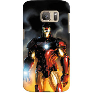 ColourCrust Samsung Galaxy S7 Edge Mobile Phone Back Cover With Iron Man With Mask - Durable Matte Finish Hard Plastic Slim Case