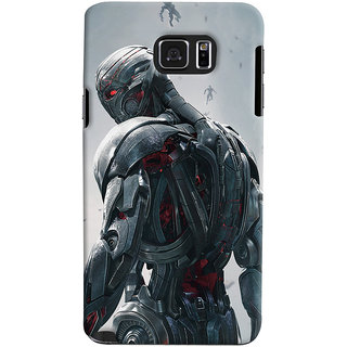 ColourCrust Samsung Galaxy Note 5 Dual Sim / Edge Plus Mobile Phone Back Cover With Ultron Back - Durable Matte Finish Hard Plastic Slim Case