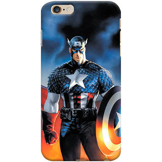 ColourCrust  6S Plus Mobile Phone Back Cover With Captain America - Durable Matte Finish Hard Plastic Slim Case