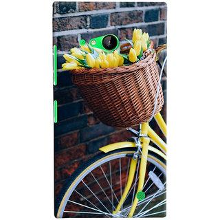ColourCrust Microsoft Lumia 730 / Dual Sim Mobile Phone Back Cover With D294 - Durable Matte Finish Hard Plastic Slim Case