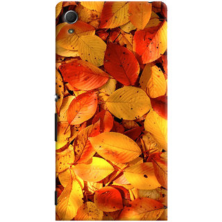 ColourCrust Sony Xperia Z4 Mobile Phone Back Cover With Dry Leaves - Durable Matte Finish Hard Plastic Slim Case