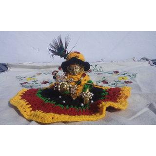 Winter Dress of God Ladoo Gopal with cap