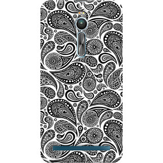 ColourCrust Asus Zenfone 2 ZE550ML Mobile Phone Back Cover With Black & white pattern - Durable Matte Finish Hard Plastic Slim Case