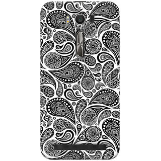 ColourCrust Asus Zenfone 2 Laser ZE500KL Mobile Phone Back Cover With Black & white pattern - Durable Matte Finish Hard Plastic Slim Case