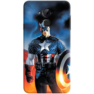ColourCrust Coolpad Note 3 Lite Mobile Phone Back Cover With Captain America - Durable Matte Finish Hard Plastic Slim Case
