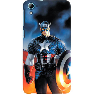 ColourCrust HTC Desire 826/Dual Sim Mobile Phone Back Cover With Captain America - Durable Matte Finish Hard Plastic Slim Case