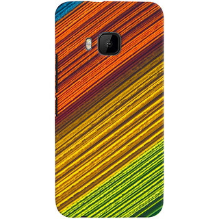 ColourCrust HTC One M9 Mobile Phone Back Cover With D287 - Durable Matte Finish Hard Plastic Slim Case