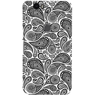 ColourCrust Huawei Google Nexus 6P Mobile Phone Back Cover With Black & white pattern - Durable Matte Finish Hard Plastic Slim Case