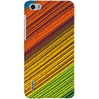 ColourCrust Huawei Honor 6 / Dual Sim Mobile Phone Back Cover With D287 - Durable Matte Finish Hard Plastic Slim Case