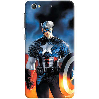 ColourCrust LeEco LE1S Mobile Phone Back Cover With Captain America - Durable Matte Finish Hard Plastic Slim Case