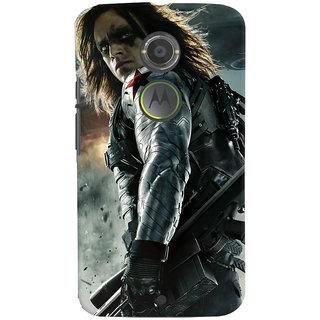 ColourCrust Motorola Moto X2 Mobile Phone Back Cover With Bucky - Durable Matte Finish Hard Plastic Slim Case
