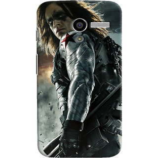 ColourCrust Motorola Moto X Mobile Phone Back Cover With Bucky - Durable Matte Finish Hard Plastic Slim Case