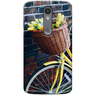 ColourCrust Motorola Moto X Force Mobile Phone Back Cover With D294 - Durable Matte Finish Hard Plastic Slim Case