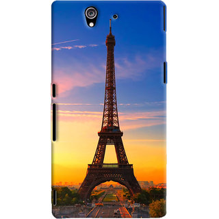 ColourCrust Sony Xperia Z Mobile Phone Back Cover With D298 - Durable Matte Finish Hard Plastic Slim Case