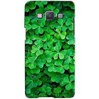 ColourCrust Samsung Galaxy A5 (2015) Mobile Phone Back Cover With Green Flower Shape Leaves - Durable Matte Finish Hard Plastic Slim Case