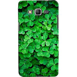 ColourCrust Samsung Galaxy Grand Prime Mobile Phone Back Cover With Green Flower Shape Leaves - Durable Matte Finish Hard Plastic Slim Case