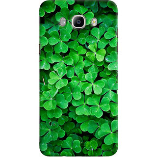 ColourCrust Samsung Galaxy J7 (2016) Mobile Phone Back Cover With Green Flower Shape Leaves - Durable Matte Finish Hard Plastic Slim Case