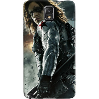 ColourCrust Samsung Galaxy Note 3 Mobile Phone Back Cover With Bucky - Durable Matte Finish Hard Plastic Slim Case