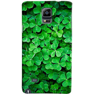 ColourCrust Samsung Galaxy Note 4 Mobile Phone Back Cover With Green Flower Shape Leaves - Durable Matte Finish Hard Plastic Slim Case