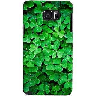 ColourCrust Samsung Galaxy Note 5 Mobile Phone Back Cover With Green Flower Shape Leaves - Durable Matte Finish Hard Plastic Slim Case