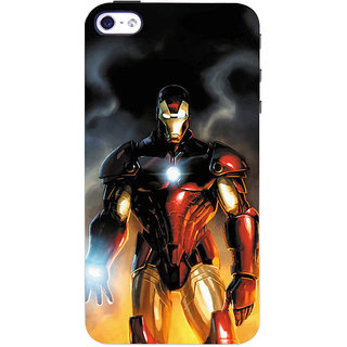ColourCrust  4S Mobile Phone Back Cover With Iron Man With Mask - Durable Matte Finish Hard Plastic Slim Case