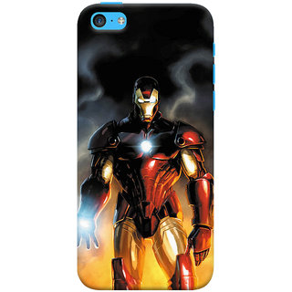ColourCrust  5S Mobile Phone Back Cover With Iron Man With Mask - Durable Matte Finish Hard Plastic Slim Case