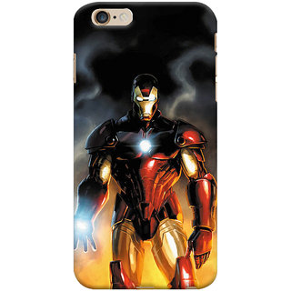 ColourCrust  6S Plus Mobile Phone Back Cover With Iron Man With Mask - Durable Matte Finish Hard Plastic Slim Case