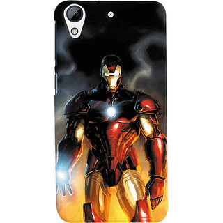 ColourCrust HTC Desire 728 / 728G / Dual Sim Mobile Phone Back Cover With Iron Man With Mask - Durable Matte Finish Hard Plastic Slim Case