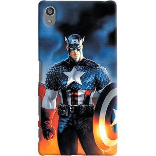 ColourCrust Sony Xperia Z5 Plus/ Z5 Premium Mobile Phone Back Cover With Captain America - Durable Matte Finish Hard Plastic Slim Case