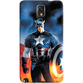 ColourCrust Samsung Galaxy Note 3 Mobile Phone Back Cover With Captain America - Durable Matte Finish Hard Plastic Slim Case