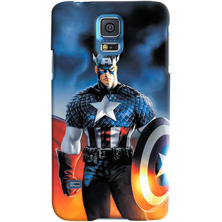 ColourCrust Samsung Galaxy S5 Mobile Phone Back Cover With Captain America - Durable Matte Finish Hard Plastic Slim Case