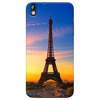 ColourCrust HTC Desire 816 Mobile Phone Back Cover With D298 - Durable Matte Finish Hard Plastic Slim Case