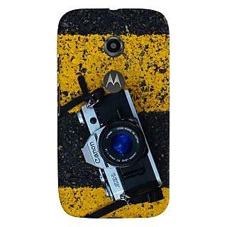 ColourCrust Motorola Moto E2 Mobile Phone Back Cover With D293 - Durable Matte Finish Hard Plastic Slim Case