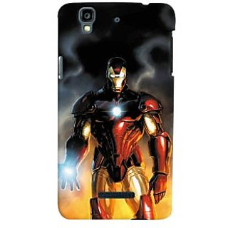 ColourCrust Micromax Yureka Plus Mobile Phone Back Cover With Iron Man With Mask - Durable Matte Finish Hard Plastic Slim Case