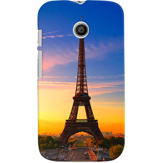 ColourCrust Motorola Moto E Mobile Phone Back Cover With D298 - Durable Matte Finish Hard Plastic Slim Case