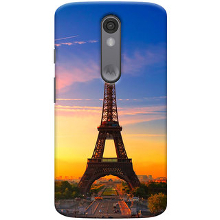 ColourCrust Motorola Moto X Force Mobile Phone Back Cover With D298 - Durable Matte Finish Hard Plastic Slim Case