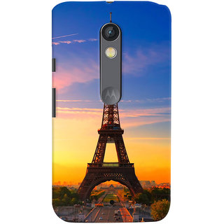 ColourCrust Motorola Moto X Play Mobile Phone Back Cover With D298 - Durable Matte Finish Hard Plastic Slim Case